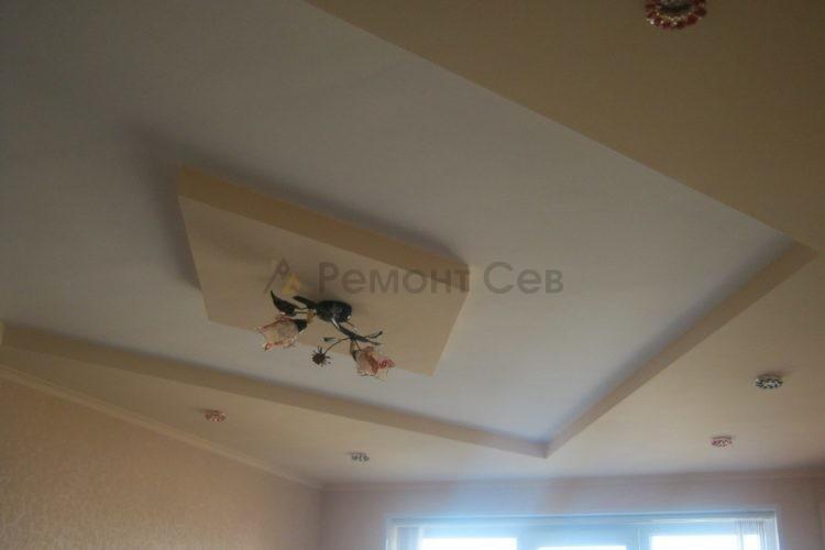 Дизайнерский комплексный ремонт потолка в квартире