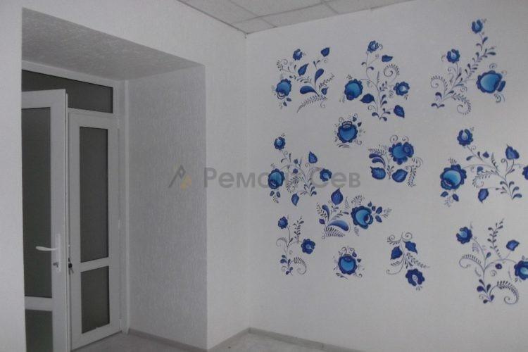 Ремонт стен и обоев в салоне красоты