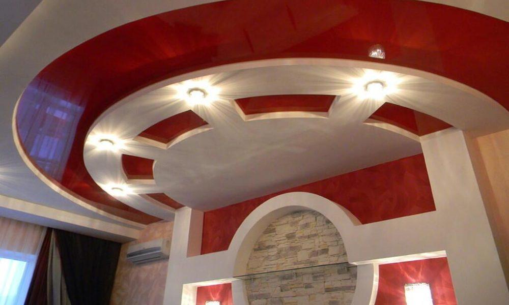 Фото 1. Оригинальные идеи дизайна фигурных потолков из гипсокартона