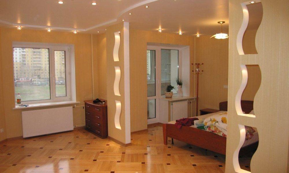 Ремонт стен и перегородок в спальне
